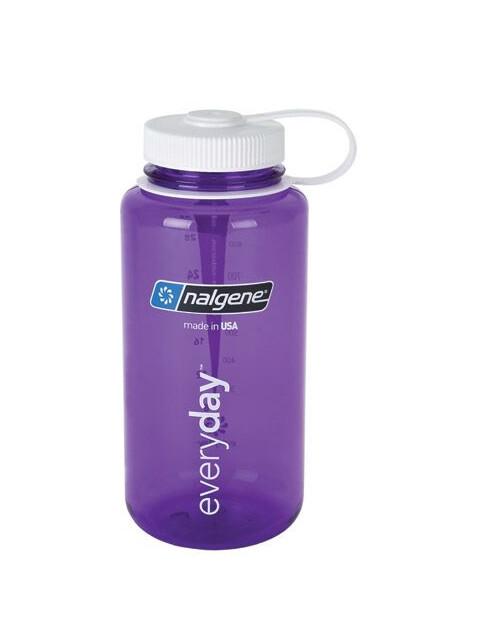 Nalgene 1L Wide Mouth Bottles Purple/White Tritan (2028)